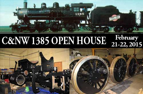 Chicago & North Western 1385 Open House, February 21-22, 2015