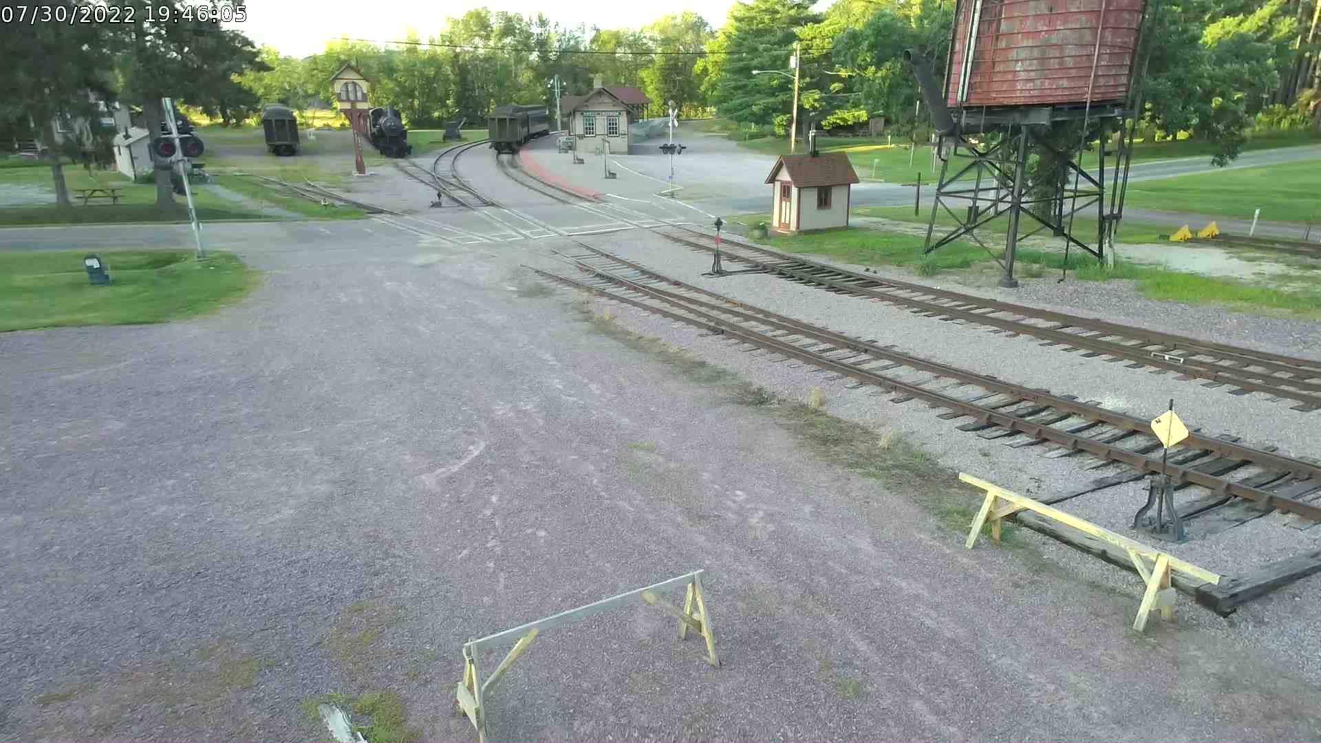 Live view of tracks facing north
