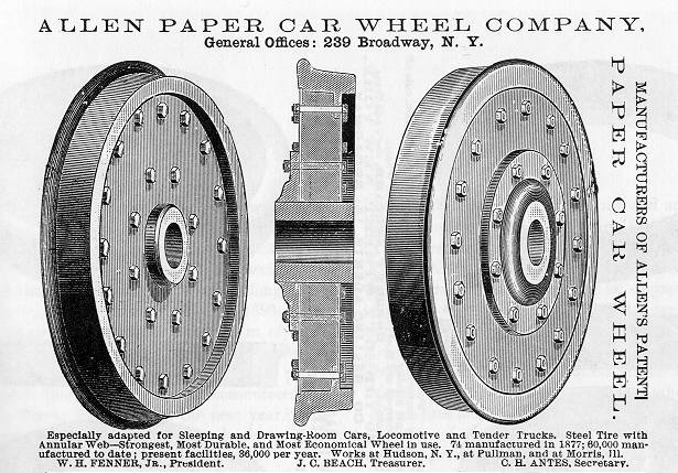 Allen Paper Wheel Advertisement