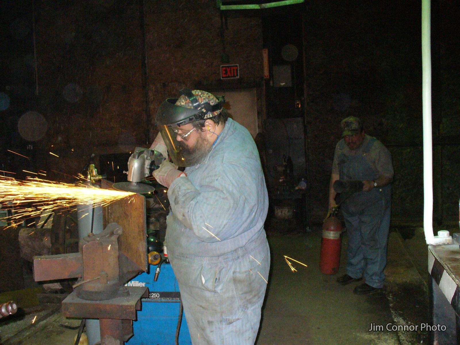 WCC1_Restoration_2000s_Pete-grinding-backer-plate