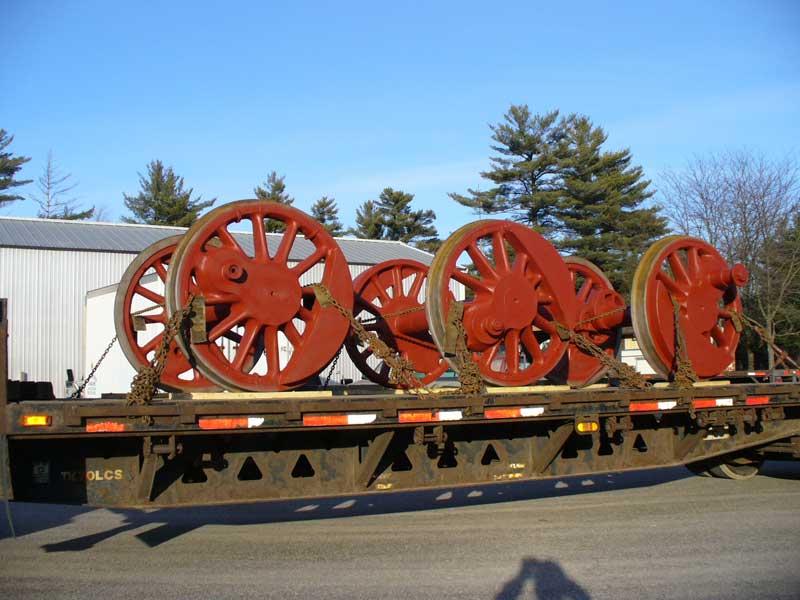 WC&C #1 driving wheels departing for repair work.