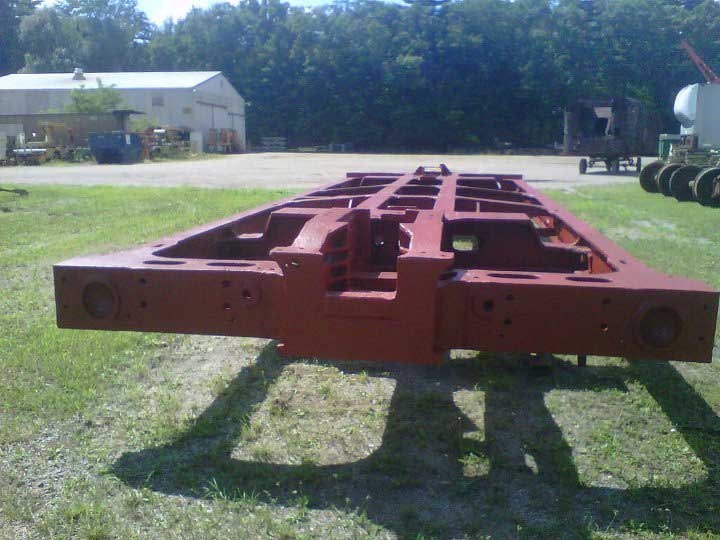 Sandblasted and primed original tender frame for the 1385.
