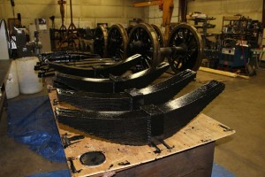 CNW 1385 driving wheels painted
