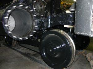 Front truck under frame