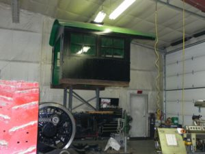 C&NW 1385 cab above frame