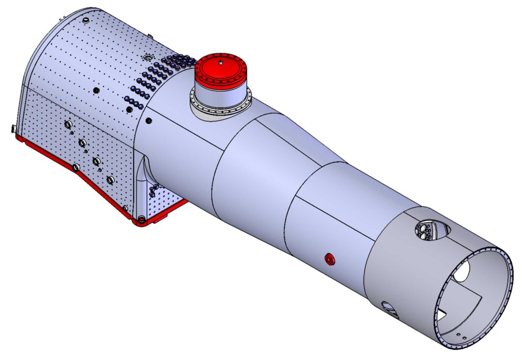 CNW 1385 Boiler Drawing 3D View