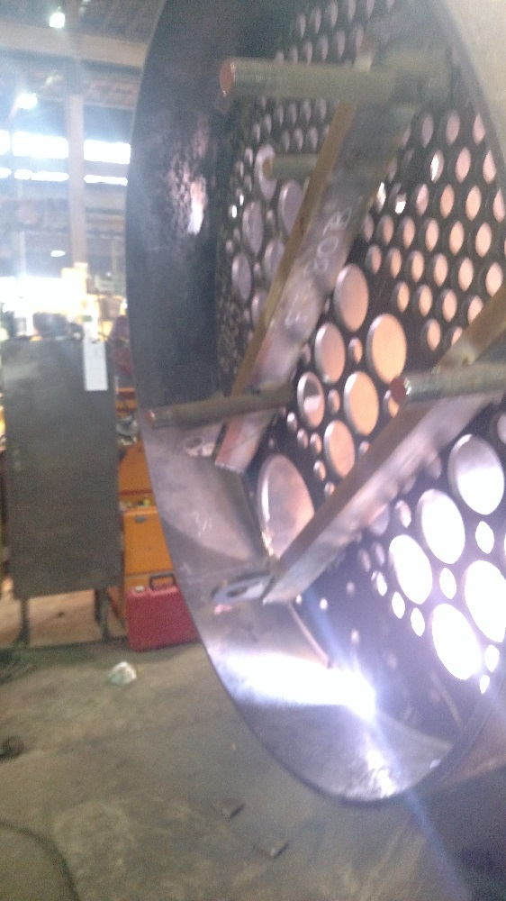 front flue sheet welding