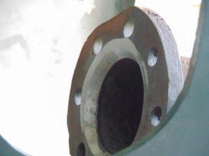 Superheater header input flange detail
