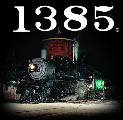 CNW 1385 locomotive and logo