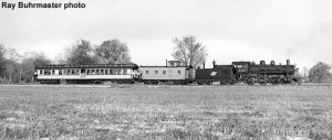 C&NW 1385 with train at Osborne's crossing in 1963.
