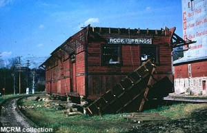 Rock Springs depot partially dismantled for transport