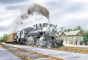 Gil Reid painting of Union Pacific #440.