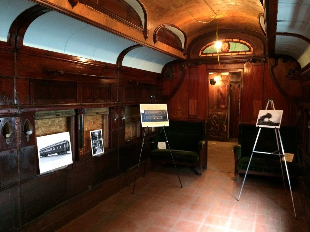 DSS&A sleeping car Duluth interior, May 2017