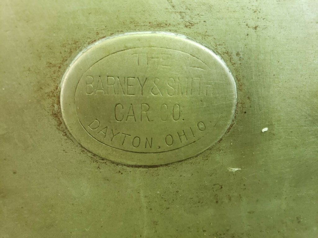 "label inscribed ""The Barney & Smith Car Co., Dayton, Ohio"""