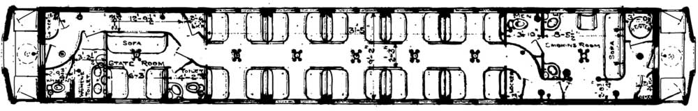 DSS&A Duluth Sleeping Car floor plan in 1924