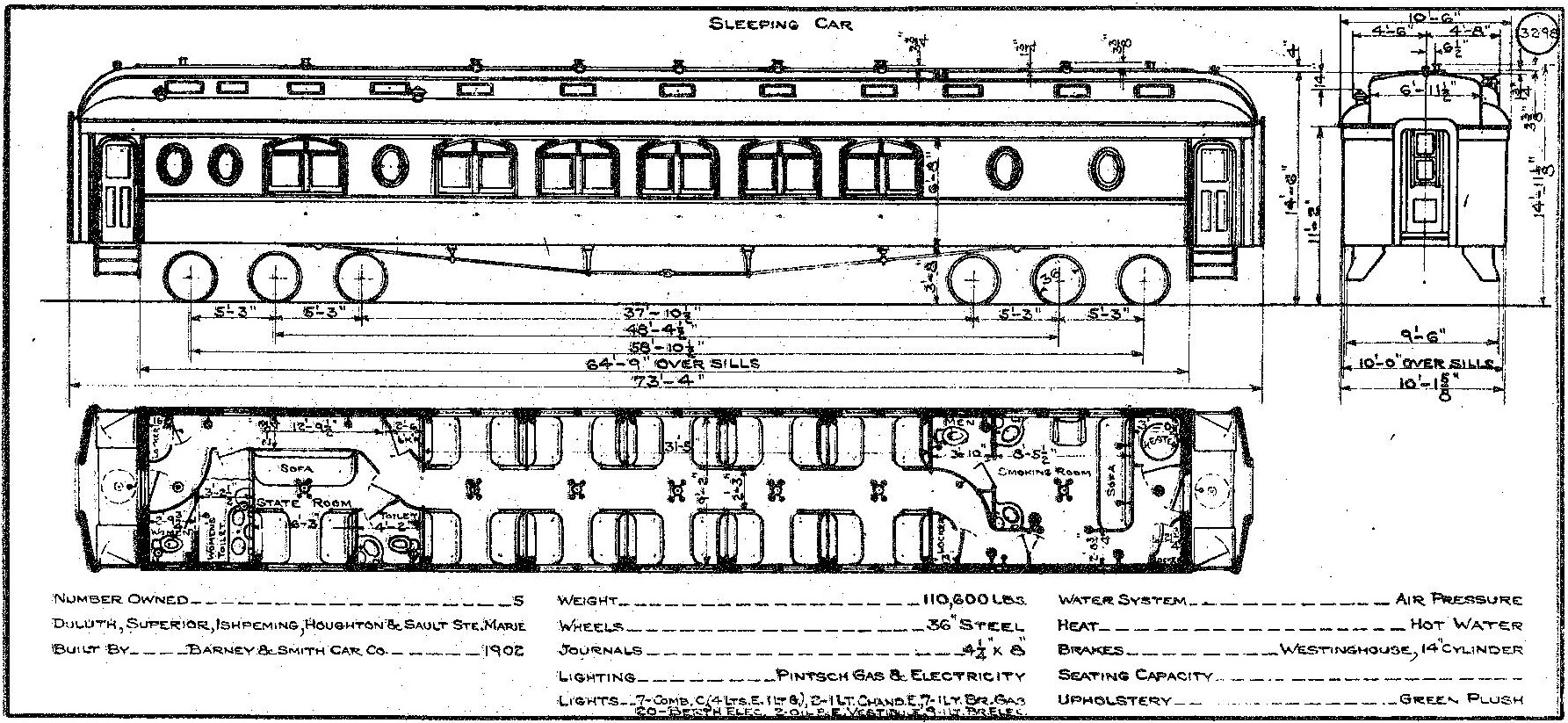 DSS&A 1902 Sleeping Cars diagram-page-001 - Mid-Continent Railway Museum