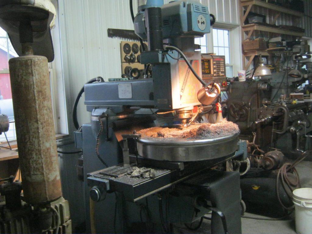Machining C&NW 1385 pilot wheel