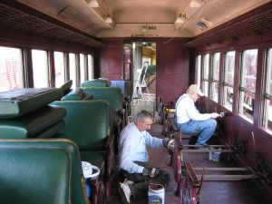 Coach car interior painting