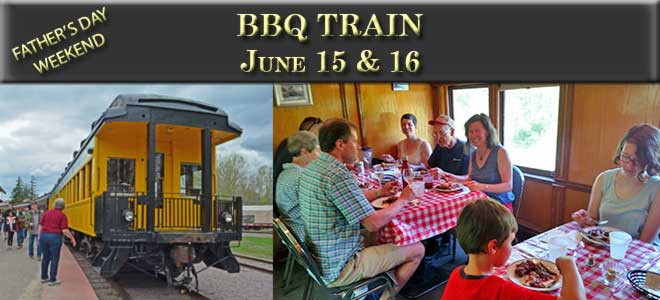 BBQ Train June 15th and 16th