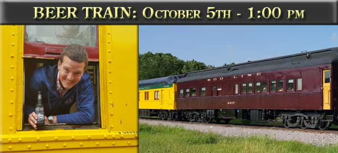 Beer Train October 5th at 1 PM