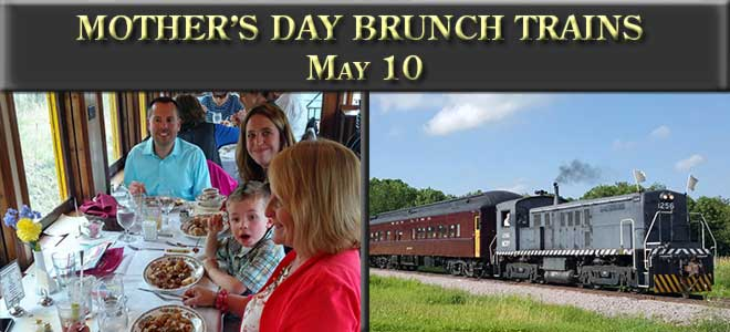 Mother's Day Brunch Trains, May 10, 2020