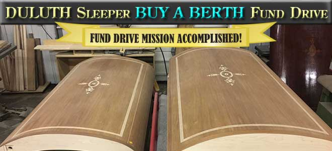Duluth sleeping car Buy a Berth fund drive completed