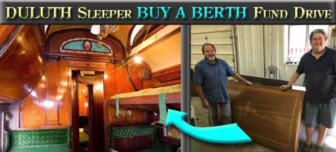 Duluth Sleeper Buy a Berth Fund Drive