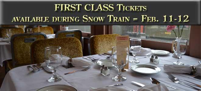 First Class tickets