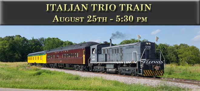 Italian Trio Train August 25 at 5:30 PM