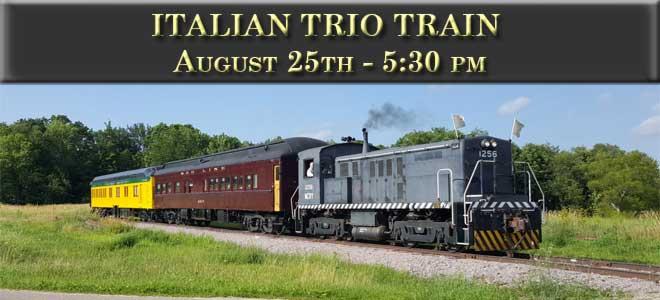 Italian Trio Train August 25 at 5:30 PM