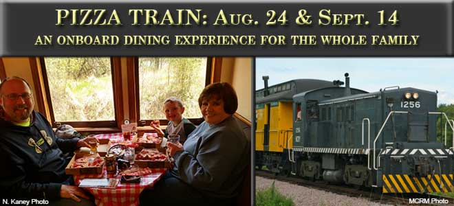 Pizza Train - August 24th and September 14th.