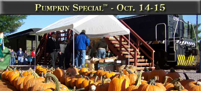 Pumpkin Special October 14th and 15th