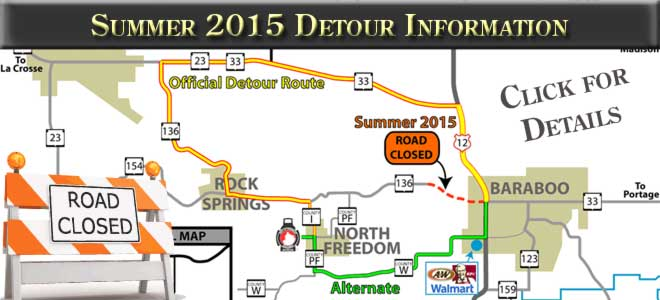 Summer 2015 Detour Information