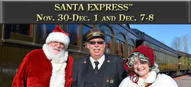 Santa Express November 30 and December 1, 7, and 8