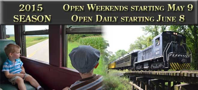 2015 Season: Open weekends starting May 9th. Open daily starting June 8th.