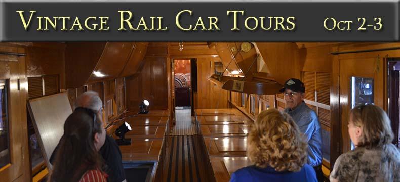 Vintage Rail Car Tours October 2-3, 2021