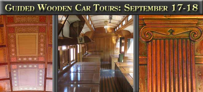 Guided Wooden Car Tours, Sept 17-18, 2016
