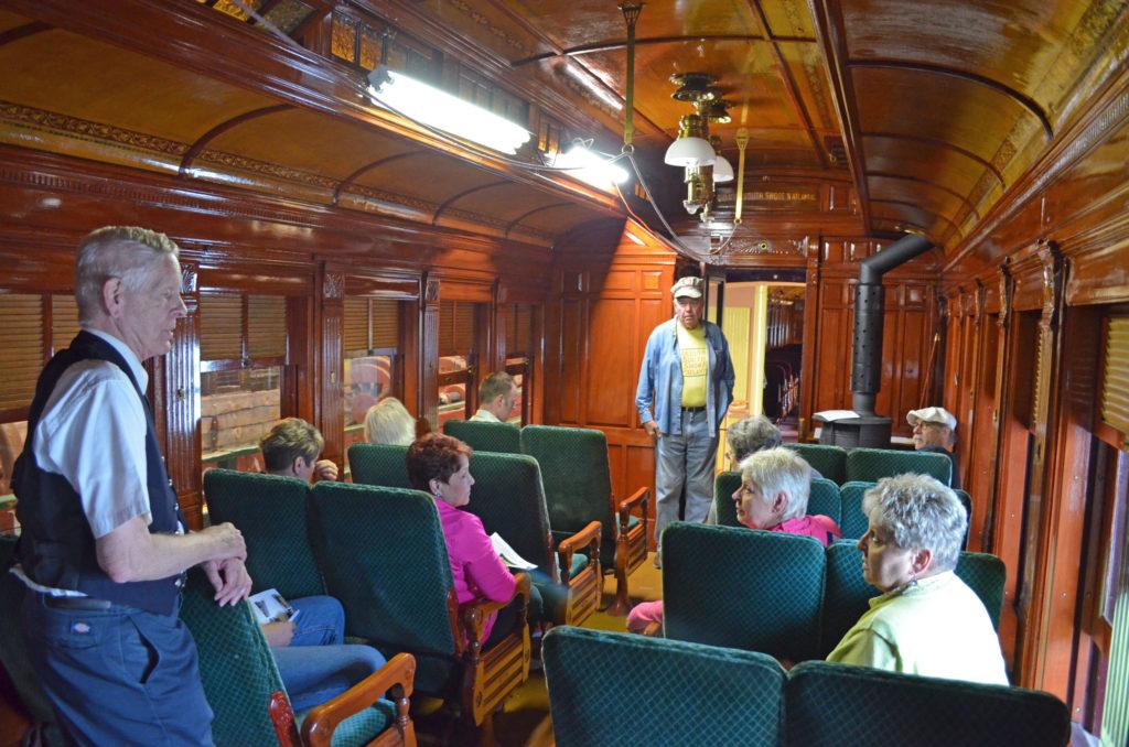 Tour of wooden passenger car