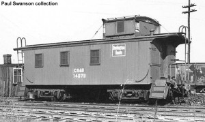 Sister caboose #14079, 1954. Paul Swanson collection.