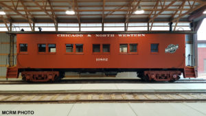 drovers caboose CNW 10802 inside display building