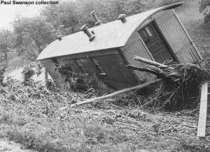 #1099 after flood wreck, June 20, 1908.