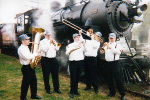 Brass band playing by CNW 1385