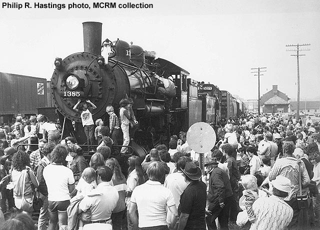 Sheboygan, Wisconsin, 5-16-82, on Prosperity Special. Philip R. Hastings photo, MCRM collection.