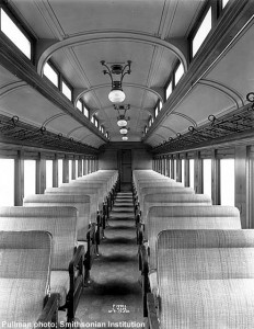 #7409's interior, builder's photo, 1915. Pullman photo; Paul Swanson collection