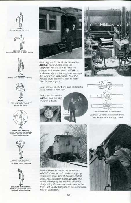 Page from compendium discussing hand signals