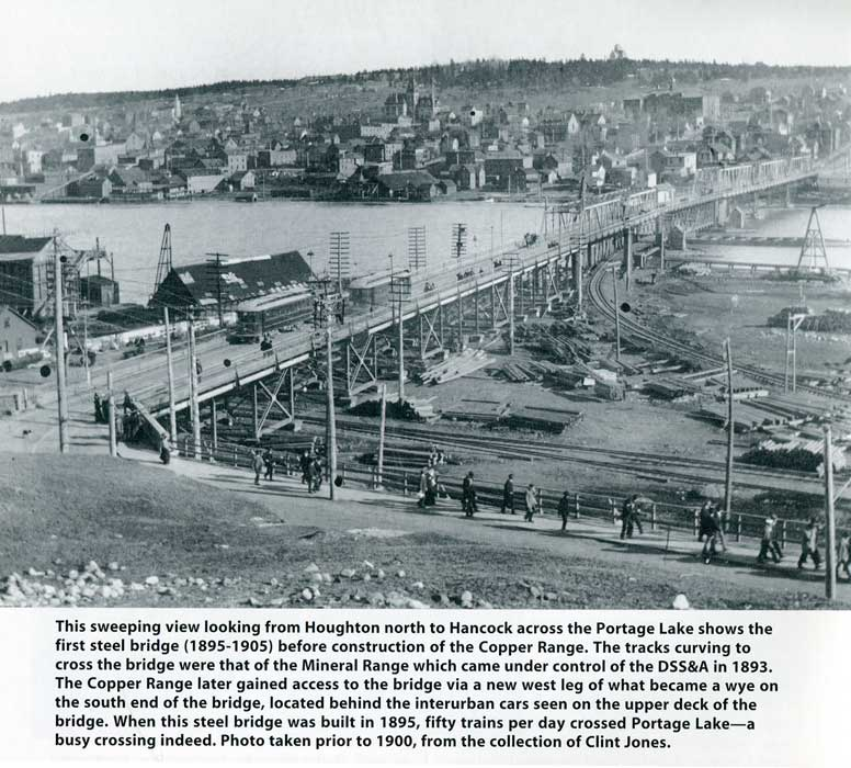Historic image of Portage Lake bridge
