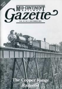 Copper Range Gazette issue cover