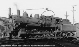 Copper Range #29 on the turntable at Houghton, MI, 8-26-39. J. Boose photo, collection of ??