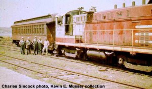 #60 leaving Houghton, MI, May 1964. Photo courtesy/collection of Kevin E. Musser.