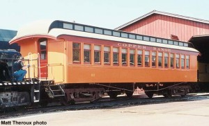 #60 restored and being moved to Coach Shed for display, March 16, 2003. Matt Theroux photo.